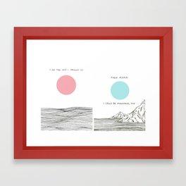I am The Sea I Drown in Framed Art Print
