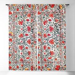Shakhrisyabz Suzani Uzbekistan Floral Embroidery Print Blackout Curtain