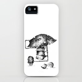 Funy Mushroom Mother Breastfeeding Her Newborn Daughter After Exiting The Egg Grphc iPhone Case