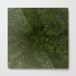 Forest Batik 04 Metal Print