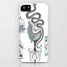 Life in a pot. iPhone Case