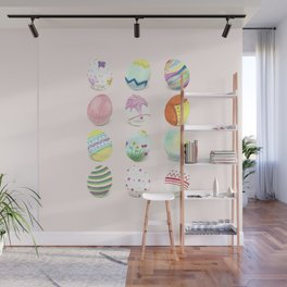 Painted Easter Eggs Wall Mural
