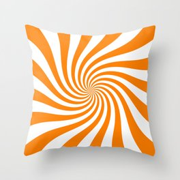 Swirl (Orange/White) Throw Pillow