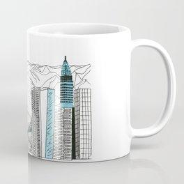 Illustration_ On the road_ Jack Kerouak Coffee Mug