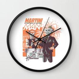 Martini Man Wall Clock