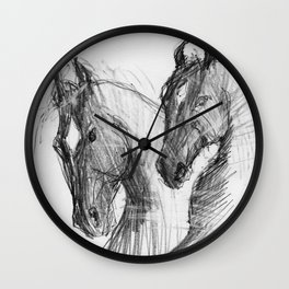 Horses (Marvari brothers) Wall Clock
