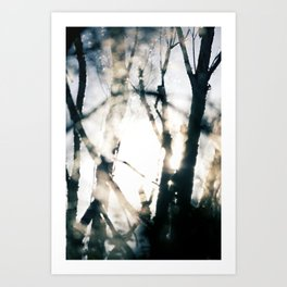 Blurry Trees Art Print