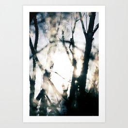 Blurry Trees Art Print