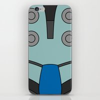 cassia beck iPhone & iPod Skins featuring Mighty No. 9 Beck Suit by Bunny Frost