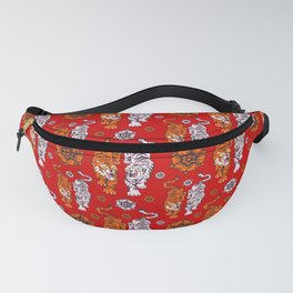 Tigers pattern 4 Fanny Pack