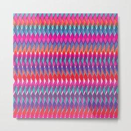 Shard Hand-Print Geometric - Bright Metal Print