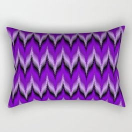 Bargello Pattern in Purple and Black Rectangular Pillow