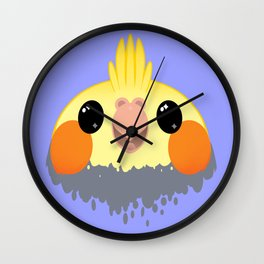 Cockatiel Birb Baby –v01 Wall Clock