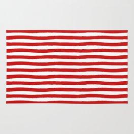 Red Horizontal Stripes Rug