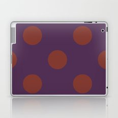 polkadots purple Laptop & iPad Skin
