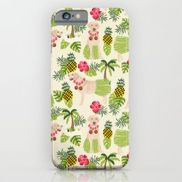 Yellow Labrador Retriever hula tropical vacation hawaii dog breed yellow labs iPhone Case