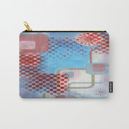 Checked Background Carry-All Pouch