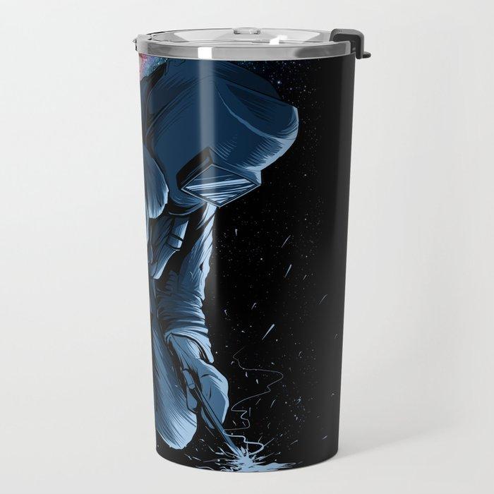 Welder In Space Travel Mug
