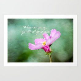 Go With Your Heart Art Print