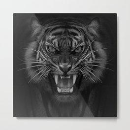 Heart of a Tiger Metal Print