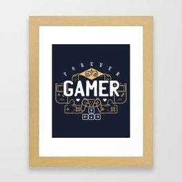 Forever Gamer Retro Vintage Design Framed Art Print