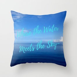 Text | Words | Sayings | Join Me... | Beach Vibes | Vacation Throw Pillow