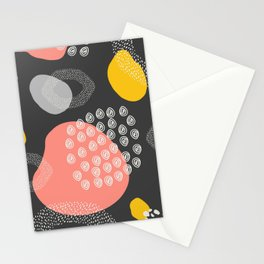 Abstract shape art, Pattern Print, Illustration Art Print, Minimalist art Stationery Cards