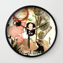 COLLAGE: Sweet Wall Clock