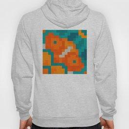 Simple pixel seamless palette in traditional Moroccan colors: Aqua, terracotta, orange, blue Hoody