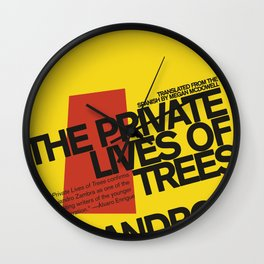 The Private Lives of Trees Wall Clock