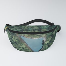 Hidden Lake in a Forest - Landscape Photography Fanny Pack