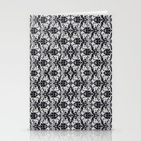 damask Stationery Cards featuring Black Damask  by Elena Indolfi