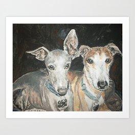 Cuddly Canines Art Print