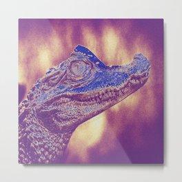 Crocodile. Recolored. Metal Print