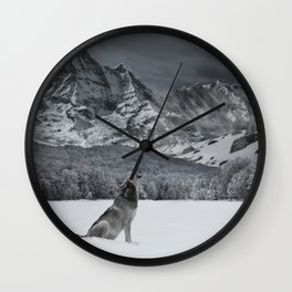 Howlin For You Wall Clock