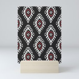IKAT pattern 01, black Mini Art Print