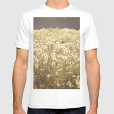 Spinning daisies MEDIUM Mens Fitted Tee White