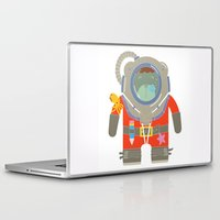 scuba Laptop & iPad Skins featuring Oso Buzo (Scuba Dibear) by EinarOux