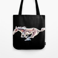 mustang Tote Bags featuring Mustang..... by Wood-n-Images