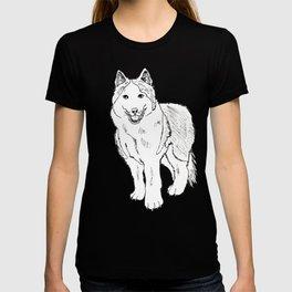 Sketch of siberian malamute T-shirt