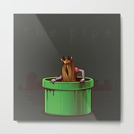 Princess Peach - The Pipe. Metal Print