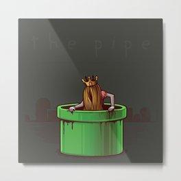 Princess Peach - The Pipe. Metal Print