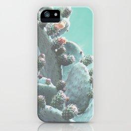 Green Flowering Cacti iPhone Case