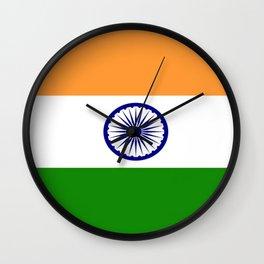 Flag of India-indian,mumbai,delhi,hindi,indus,buddhism,hinduism,buddha,gandhi Wall Clock