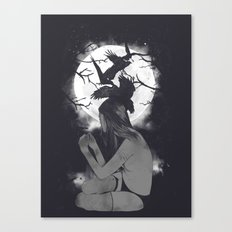 Raven-Haired Canvas Print