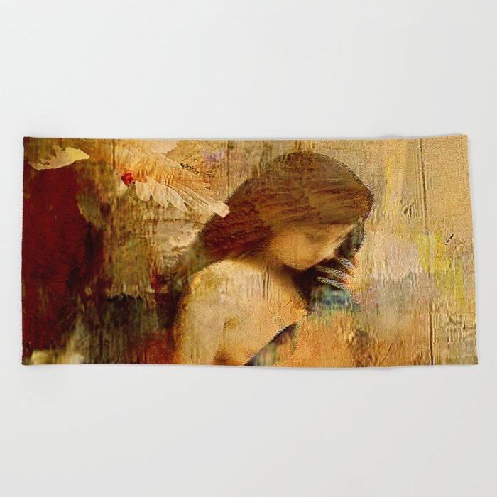 The message of Marie de Magdala Beach Towel