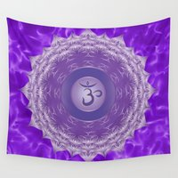 chakra Wall Tapestries featuring Crown Chakra  by Gypsy Owl Productions