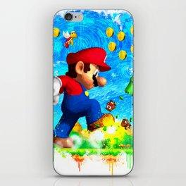 Super Mario Van Gogh style iPhone Skin