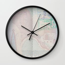 Passport Wall Clock