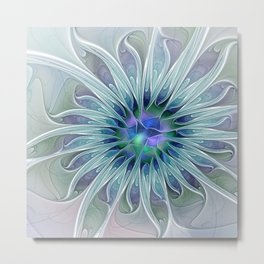 Floral Beauty, Fantasy Flower Metal Print